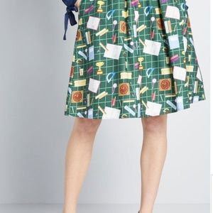 ModCloth Flit and Flirt A-Line Skirt
